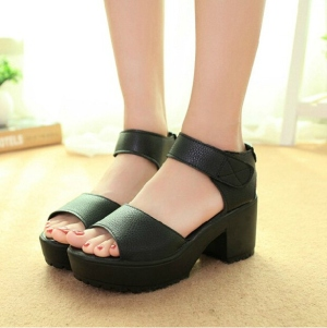 Platform Sandals High Heel Ankle Strap