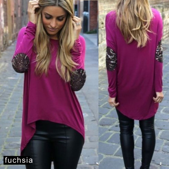 Fuschia asymmetrical top