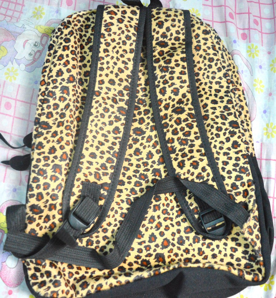 Leopard printed backpack