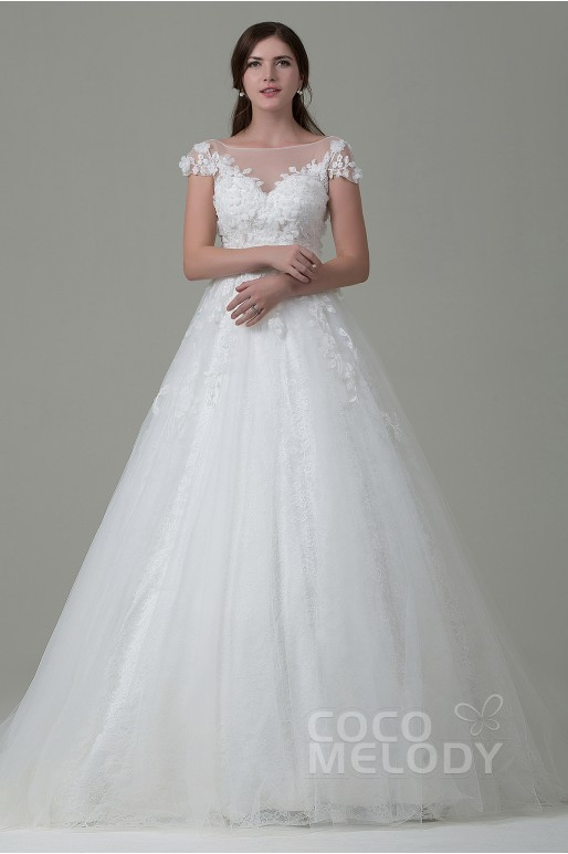 A back open wedding gown
