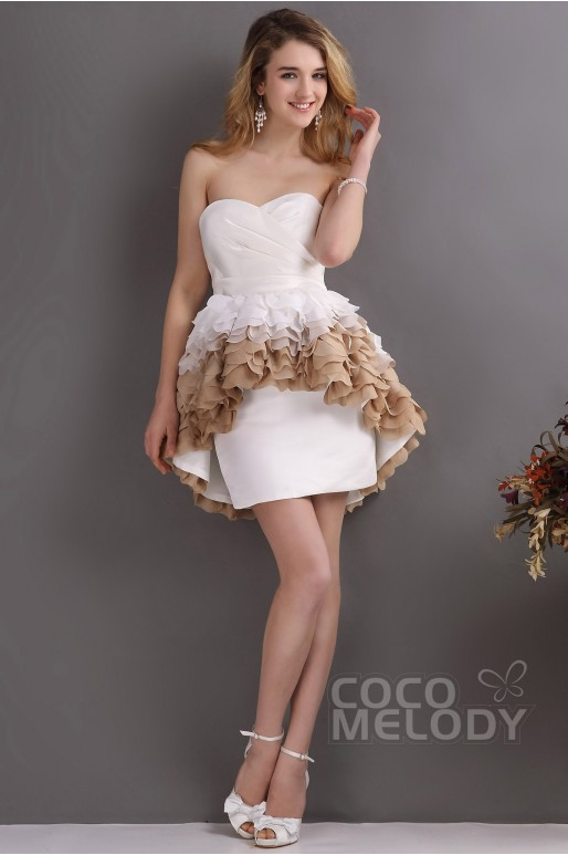 Mini Satin Wedding Dress