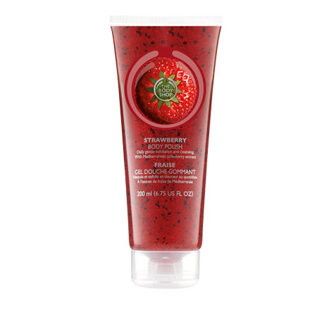 Strawberry Body polish by Body Shop