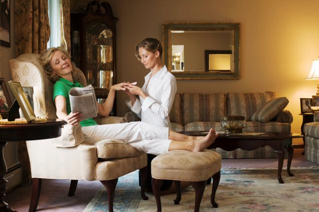 Relax and use beauty service option at home