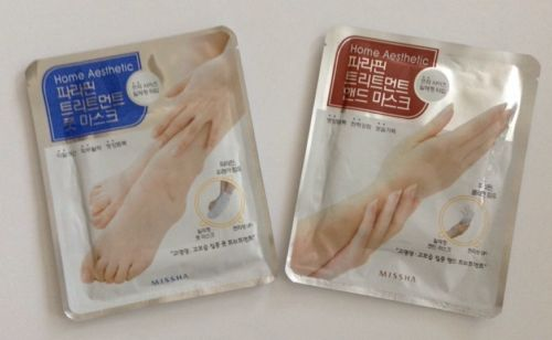 Sheet masks for feet and hands